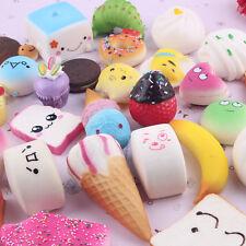 10Pcs/set Soft Squishy Donuts Cake Bread Slow Rising Squishies Anti-stress Toys