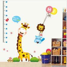 Kids Height Growth Chart Children Measure Wall Sticker Room Decor Animal Decal