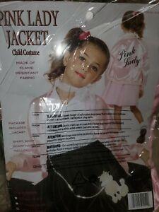 Shiny Pink Ladys Costume Jacket Size Large 10-12