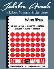 Wurlitzer 1981 Service Manual & Parts Cabarina, Tarock, Niagara, Silhouette More