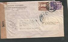 Peru Wwii registered censor cover Esther Crooks Cultural Lima - Pleasantville Ny