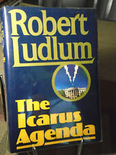 Robert Ludlum, The Icarus Agenda, Signed,1st Edition,1st Printing, Like New