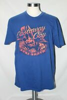 Disney Cruise Line Castaway Cay Surf Shack Blue Short Sleeve Shirt XL
