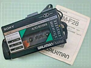 Sony, Walkman WM-F28 [ FM/AM / Cassette player ] S/N: 158939 New Belt & Serviced