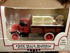 ANHEUSER BUSCH ERTL 1926 MACK BULLDOG TRUCK BANK W/ CRATES - 1:38 SCALE - NIB