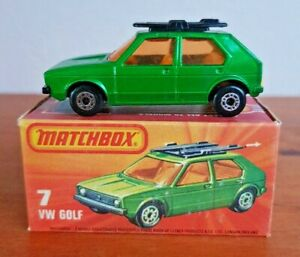 MATCHBOX SUPERFAST  No7 VW GOLF WITH SURFBOARDS  1976 issue
