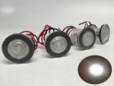 4 PCS MARINE BOAT LED LIVEWELL ROUND BUTTON WHITE COURTESY LIGHT OEM WATERPROOF