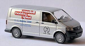 VW Volkswagen T5 Box 2003-09 - 1:87 Silver Metallic Wiking 0309 03