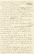 Marquis de SADE /  Lettre autographe à son épouse / SADE et ses manuscrits 1783
