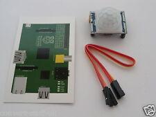 1x Infrared PIR Motion Sensor Module, GPIO cables & GPIO card for Raspberry Pi