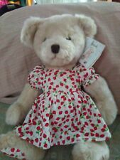 Harrods Girl Strawberry Bear Nwt with strawberry print dress