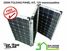 250W 12V Deluxe Folding Solar panel kit, Free Freight!