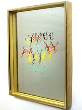 """Vintage Picasso's """"The Youth Dancers"""" Hand Silk Screened Shadowbox"""