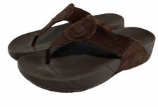 FitFlop Oasis Chocolate Brown Suede Thong Sandal Flip Flops Womens Size Us 7