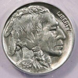 1937-P 1937 Buffalo Nickel ICG MS66