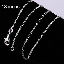 Wholesale New Lady/Mens 925 Silver Filled Necklace Solid Chain AU Free Shipping