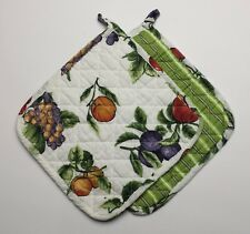 Set of 2 Great Finds ERICA Quilted Cotton Pot Holders