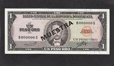 Dominican Republic 1 Peso Oro P-99s  1964-73  Specimen  AU/UNC