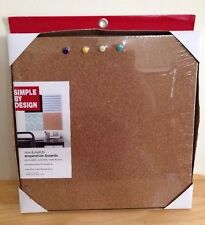 Simple By Design Mix & Match Inspiration Cork Boards w/Push Pins