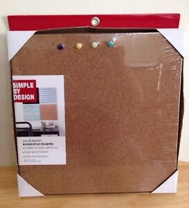 Simple By Design Mix & Match  Inspiration Cork Boards w/Push Pins A164