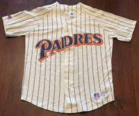 VINTAGE SAN DIEGO PADRES RUSSEL ATHLETIC JERSEY PINSTRIPE HOME SIZE SMALL
