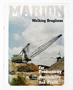 1971 MARION POWER SHOVEL Walking Draglines Sales Brochure