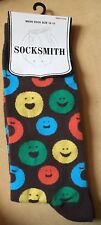 NEW Smiley Face Men's Sock Large Zize 10 To 13 SockSmith