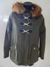 RIVER ISLAND Hooded Duffel Parka Jacket Fur Hood UK Size 6  NEW TAGS