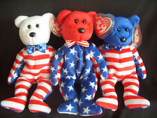 NWT TY BEANIE BABY LIBERTY RED, WHITE AND BLUE U.S.A BEARS