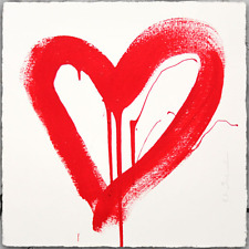 Mister Brainwash Print MBW Street Art Poster Banksy LOVE HEART RED Valentines