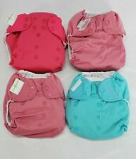 New ListingBumgenius Girl's Pocket Style Cloth Diapers Inserts one sz Snap Buttons lot of 4