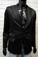 Dsquared2 Giacca da Uomo Taglia S Cappotto Nero Lucido Blazer Jacket Man Black
