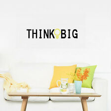 THINK BIG Quote Wall Vinyl Decal Inspirational Words Sticker for Office Room