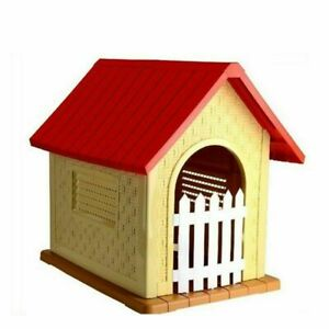 PLASTIC LARGE DOG KENNEL DURABLE WINTER HOUSE HOME SHELTER