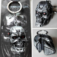 Movie The Terminator T-850 Mechanical 3D Head Keychain Metal Keyring #New