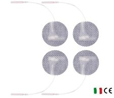 ^eL 4 Elettrodi adesivi rotondi viso seno 3cm spinotto pin tesmed globus compex
