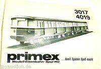 3017 4019 Primex Märklin Anleitung    å *