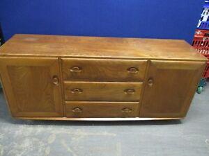 ERCOL Windsor Sideboard, Solid Ash, Model 468, 2 Cupboards, 3 Drawers, 156cm W