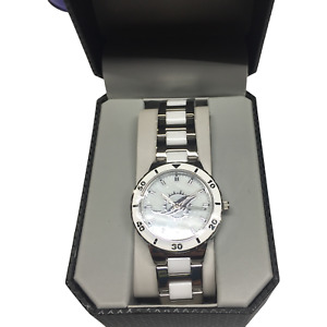 NIB GameTime Miami Dolphins Stainless Steel And White Band Women's Watch