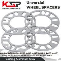 4PC Universal 4 5 Lug Wheel Spacers 5mm Thick 5x114.3 5x120 5x110 4x100 4x110