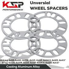 4PC Universal 4/5 Lug Wheel Spacers 5mm Thick 5x114.3 5x120 5x110 4x100 4x110