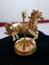 Vintage Collectible Christmas Carousel Horse 2000 San Fransisco Music Box Co B05