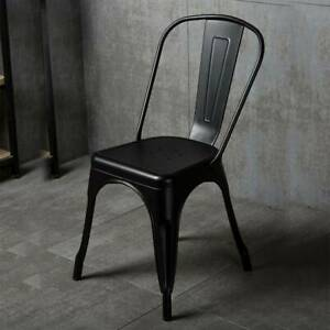 Tolix Style Side Chairs - Dining, Cafe, Restaurant, Bistro, Metal, Industrial