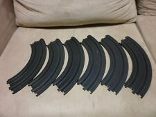"Lot of 6 Tomy AFX 9"" (299 mm) Radius Curve 1/4 circle HO Slot Car Track #503349"