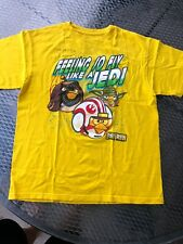 Boy's Yellow Feeling So Fly Like A Jedi Angry Birds T-Shirt Size 18