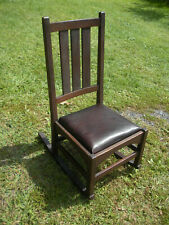 Ultra Rare Mahogany Gustav Stickley Mission Small Sewing Rocking Chair No 337