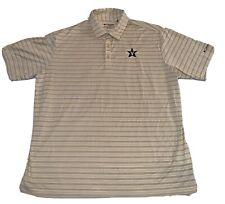 Men's Columbia Golf Polo Shirt Vanderbilt Commodores Size 2Xl Xxl Vandy Vu