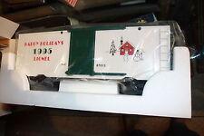 Lionel G scale box car # 8-87013 Nib Christmas year 1995