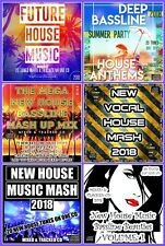NEW HOUSE MUSIC MASH UP FUTURE BASSLINE CLUB CDs 6 x DJ mixed CD PACK COLLECTION