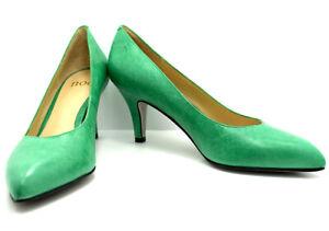 Noe High Heel Women Pumps Court Shoes Leather Green UK 6.5 / EU 39.5